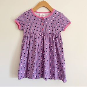 Hanna Andersson Dress Girls 4T 100 Polka Dot